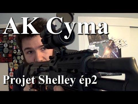 "AK Cyma. Projet ""Shelley"" ép2. Crosse CTR et Bricolage. Airsoft. (n°283)"