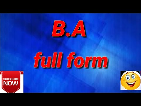 Ba full form || full form || ba || ba meaning