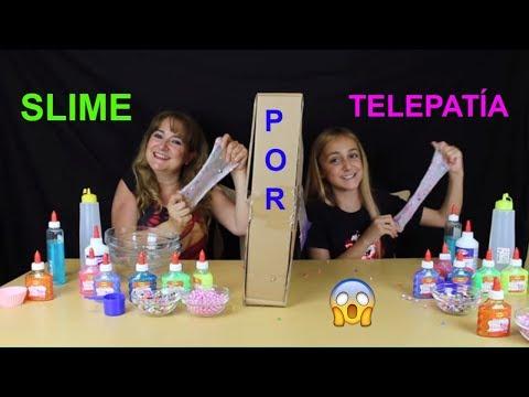 SLIME POR TELEPATÍA / SLIME TELEPATHY CHALLENGE - Sonia Gutiérrez