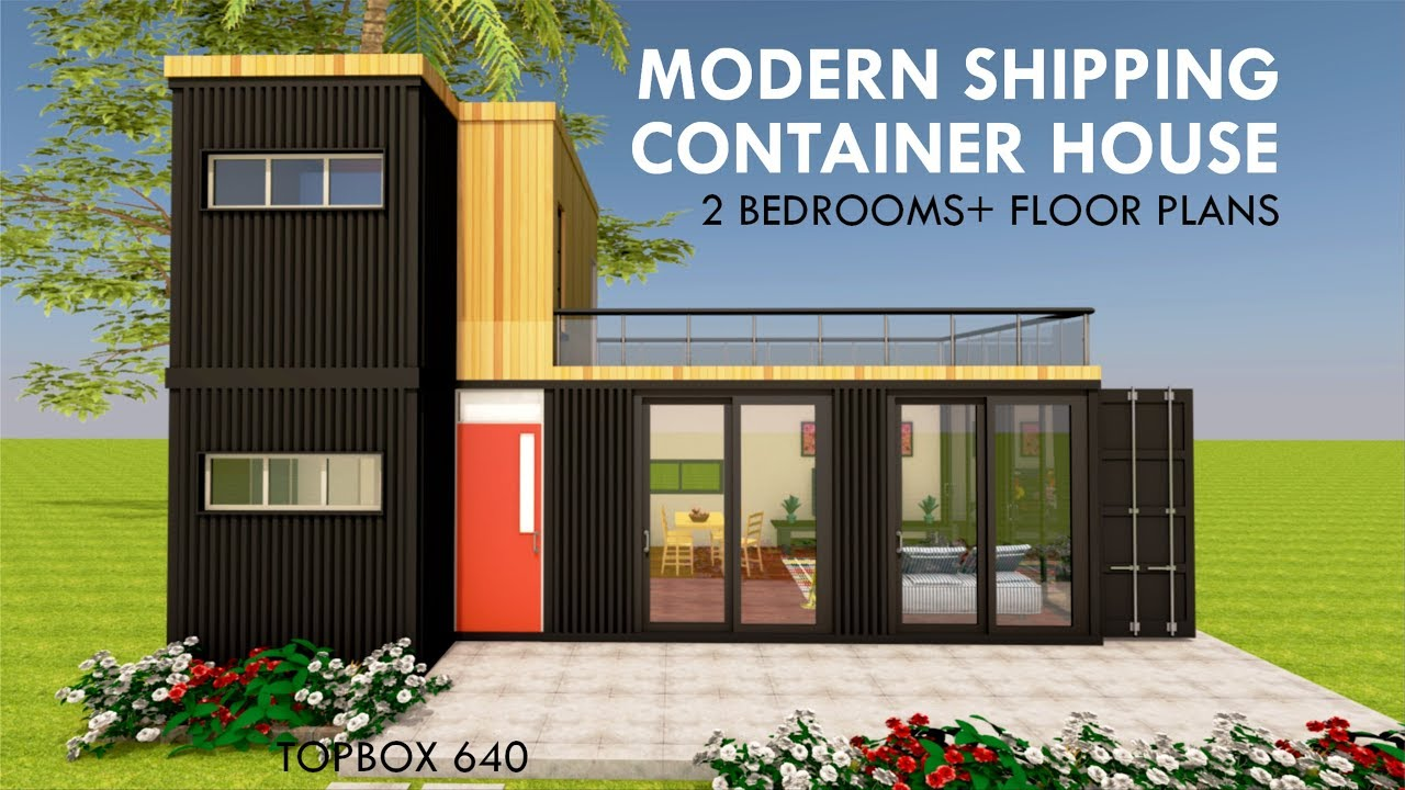 Modern Shipping Container Home modular shipping container 2 bedroom prefab home design with floor plans |  topbox 640