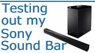 Testing out the Sony HT-CT150 Sound Bar