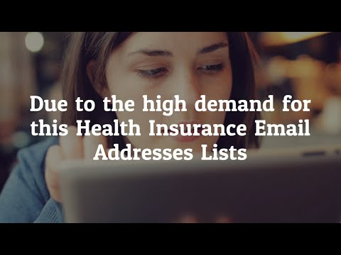 Health Insurance Email List Providers