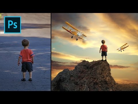 Photoshop Tutorial - How To Edit Fantasy Photos Of Boys
