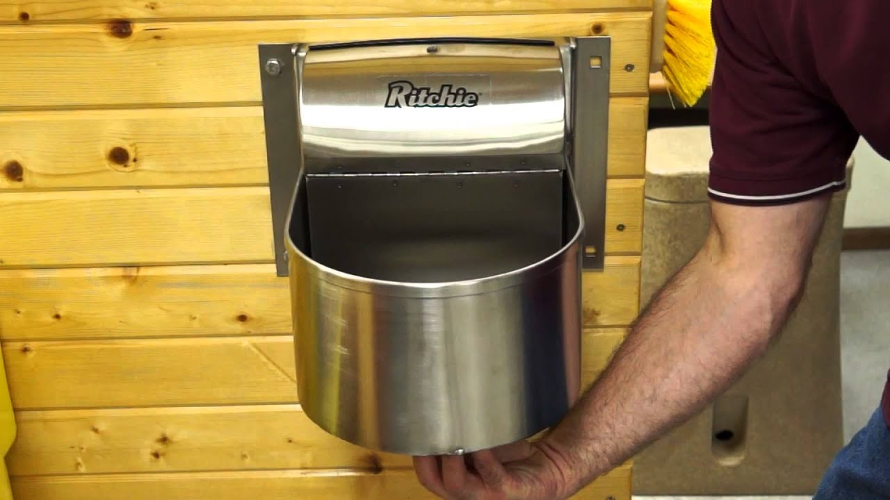 How To Clean A Ritchie Stall Fount Automatic Waterer Youtube