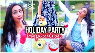 Holiday Party Hair Makeup & Outfit Ideas + Snacks!