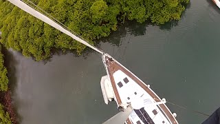 Tropical Storm Tactics - Tying Sailboat in Mangrove for a Hurricane