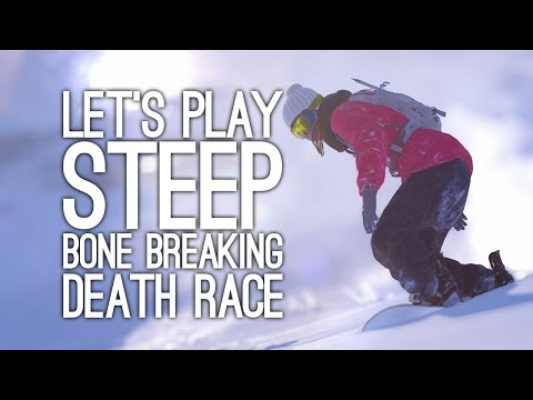 Steep Multiplayer Gameplay: Let's Play Steep Multiplayer - DEATH RACE CHALLENGE
