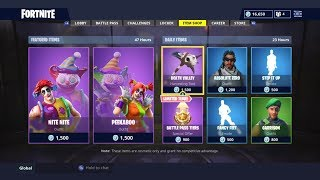 CLOWN SKINS! MAGASIN D'ARTICLES QUOTIDIENS AUJOURD'HUI! FORTNITE BATTLE ROYALE (23/9/2018)