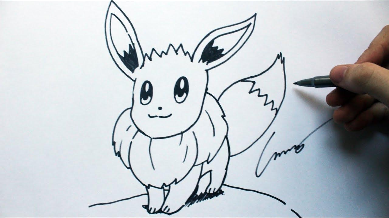 Como Desenhar Um Eevee Pokemon How To Draw Eevee Pokemon