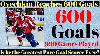Alex Ovechkin 600 Goals - Can he catch Gretzky?