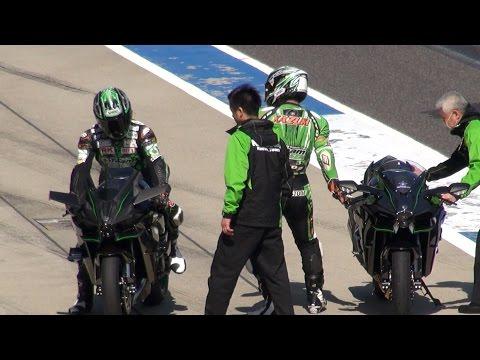 2015 Kawasaki Ninja H2R & H2 Demo Run in Suzuka