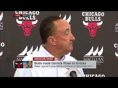 Chicago Bulls GM on Derrick Rose Trade to Knicks ¦ June 22, 2016 ¦ 2016 NBA Offseason