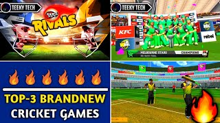 🔥Top-3 Brandnew High Realastic Graphics Cricket Games For Android | With Brandnew Features