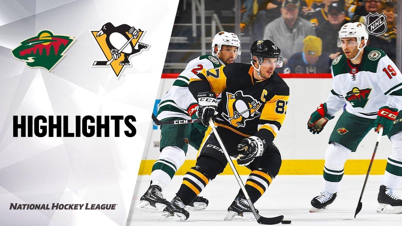NHL Highlights | Wild @ Penguins 1/14/20