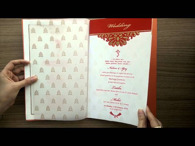 Indian Wedding Invitation  AVV/1340 - YouTube