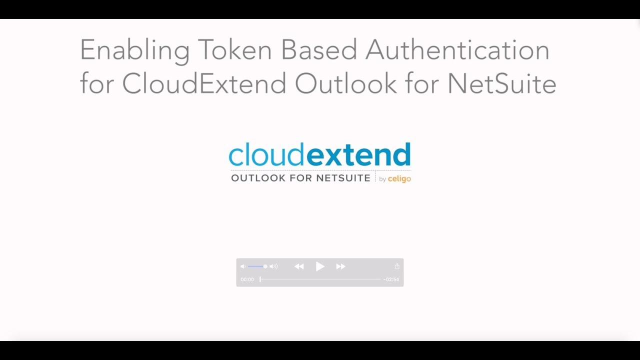 Setting up Token Based Authentication For CloudExtend