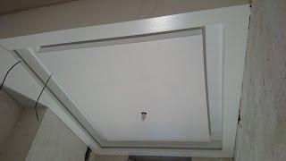 потолок 13. необычная подсветка, все секреты монтажа гипсокартона. Gypsum ceiling.