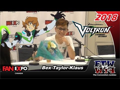 Bex TaylorKlaus Voltron: Legendary Defender  Expo Canada 2018 Full Panel