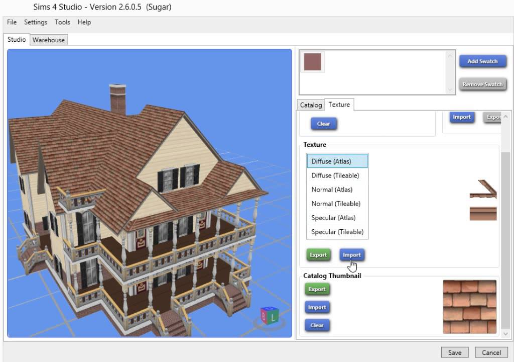 How to Recolor a Sims 4 Roof using Sims 4 Studio