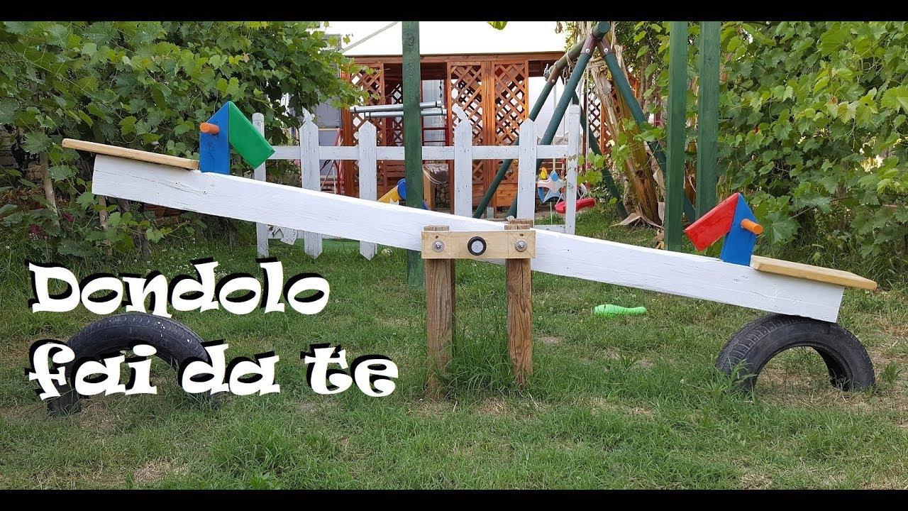 Dondolo Da Giardino Fai Da Te : Giochi in legno da giardino fai da te facciamo un dondolo youtube