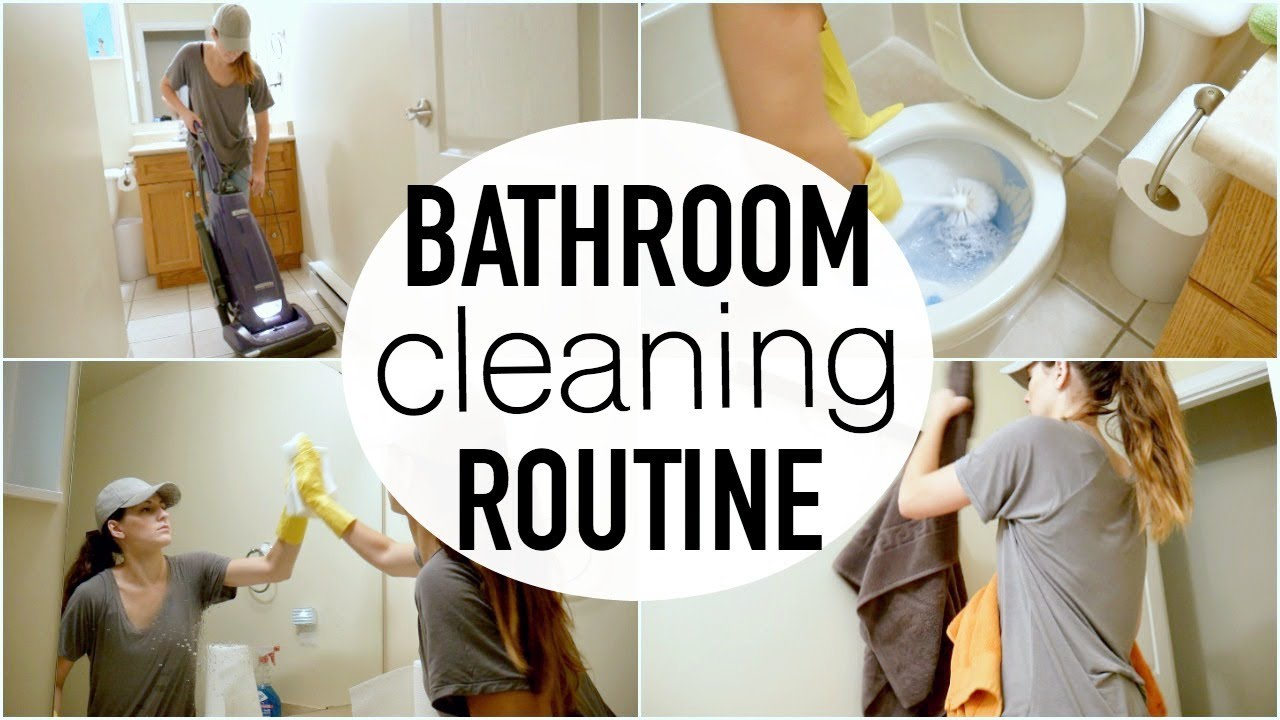 CLEAN WITH ME! || BATHROOM DEEP CLEANING ROUTINE 2017