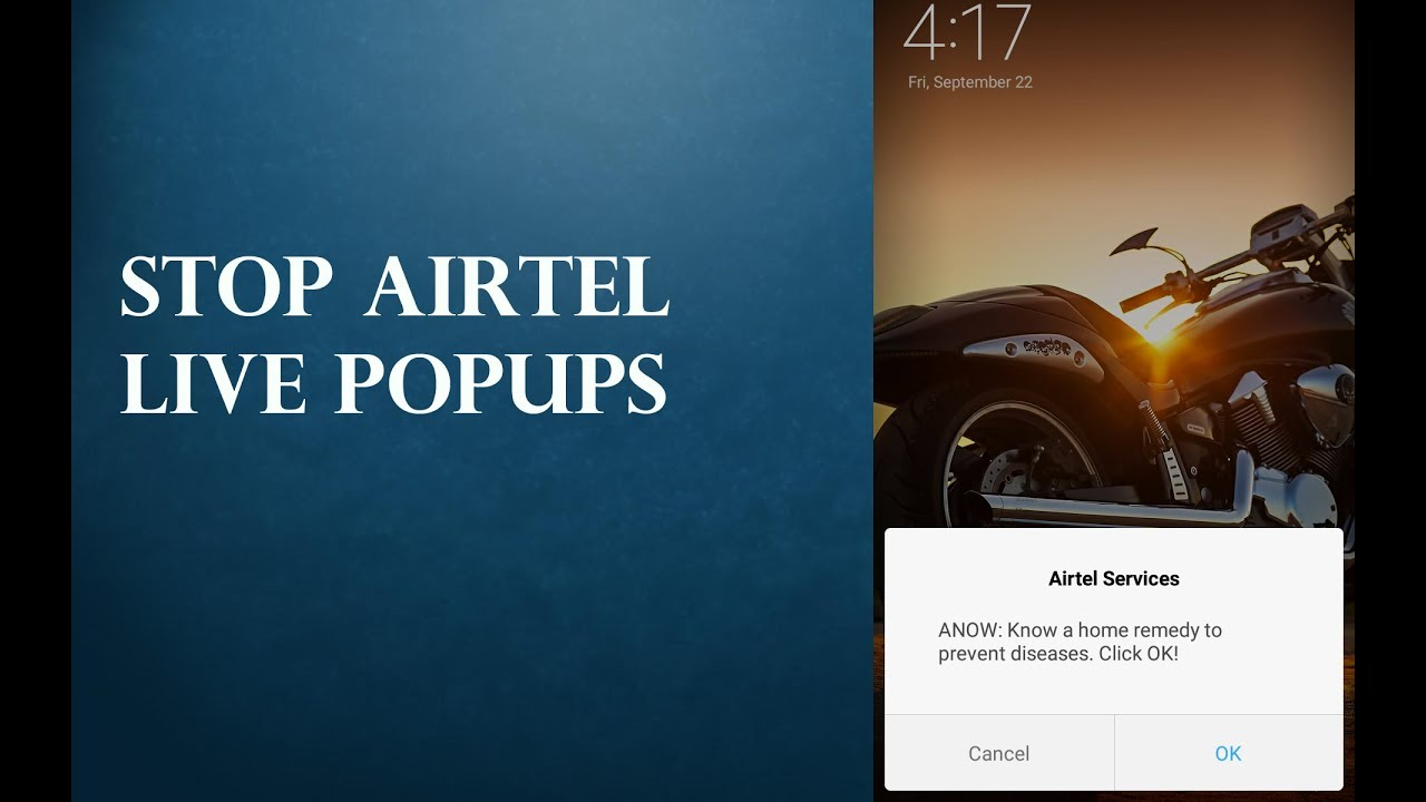 How to Stop Airtel Live Popups