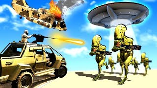 Military Force Tries to Save the World and Stop a Massive Alien Invasion in GTA 5!