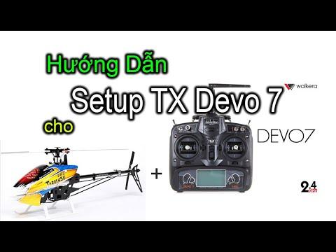 Hướng Dẫn Cài Đặt Devo 7 Dành Cho Helicopter (Bản Chuẩn)