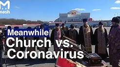 Russian Priests Fight Coronavirus From Above  | The Moscow Times