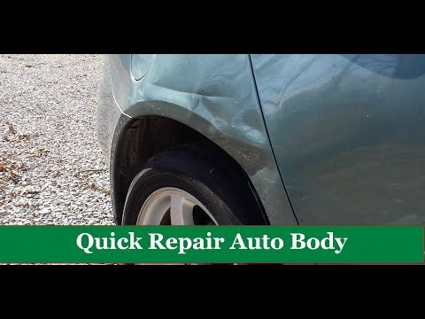 How to Quick Repair Auto Body Using Wiggle Wire Spotter Panel Puller