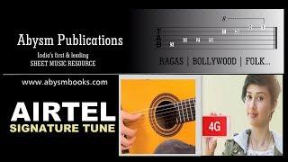 Learn Airtel Tune on Guitar Sheet Music | Chords, Tabs, Lessons, Tutorial