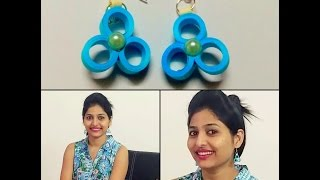 How to make simple paper quilling earrings | DIY earrings