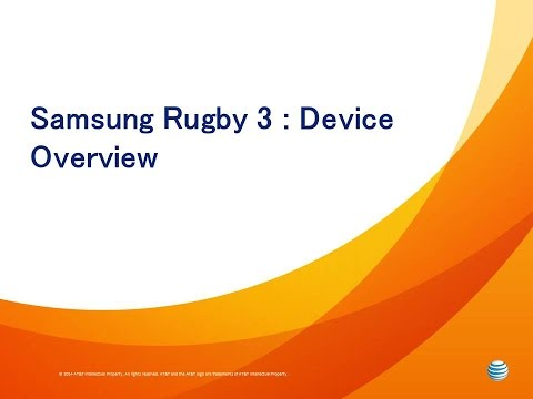 Samsung Rugby 3: Device Overview