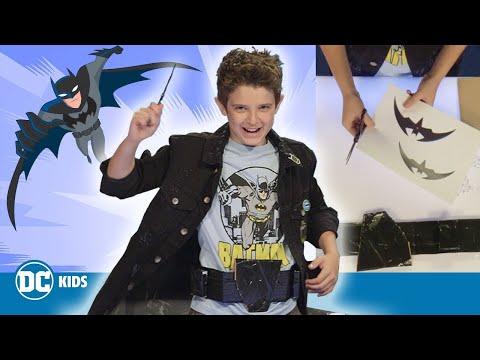 Make your own DIY Batbelt and Batarangs!   DC KIDS SHOW