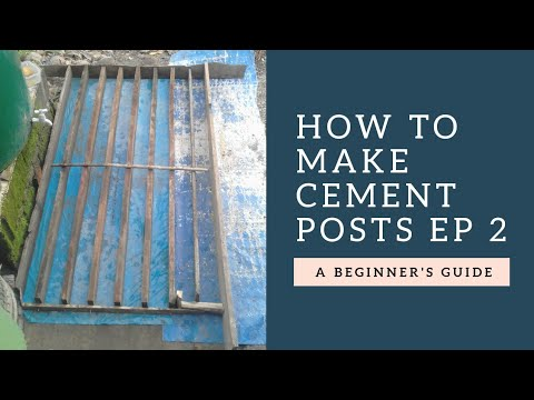 How to make dragon fruit cement posts (Removing wooden frames) | DIY cement post ep 2