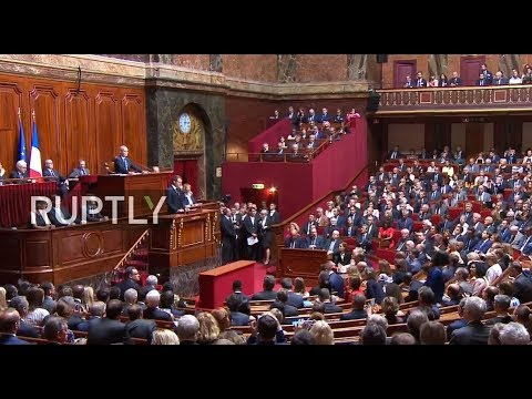 LIVE: Macron addresses deputies and senators in joint Congress session in Versailles palace