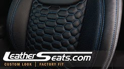 2017 Jeep Wrangler - Custom Leather Seat Interior With Reticulated Hex Inserts - LeatherSeats.com