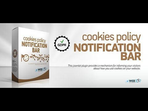 Cookies Policy Notification Bar For Joomla! - GDPR Ready!