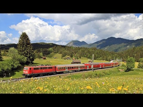 Live Train 24/24 Train Driver's View Cab Ride in the World Line Railway in Spring ! Very Beautiful
