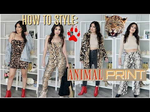 HOW TO STYLE: ANIMAL PRINT (SNAKE & LEOPARD PRINT) OUTFIT IDEAS