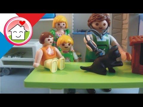 Playmobil en francais Chez le vétérinaire La famille Hauser / film pour enfants