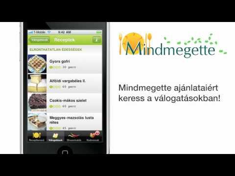 Mindmegette: Receptgyűjtemény és gasztronómiai olvasnivalók iPhone alkalmazás