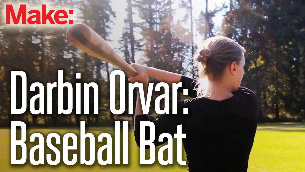 Making a baseball bat from rough-sawn lumber – Darbin Orvar