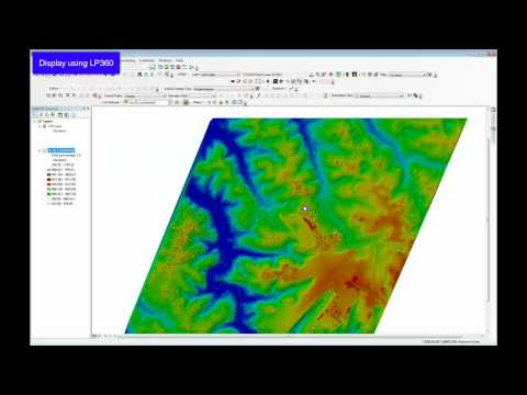 ArcMap 10.1 LIDAR features compared to LP360