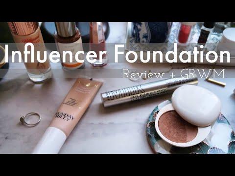 BEAUTY REVIEW GRWM  | Sunday Riley Influencer Foundation + Milk Kush Mascara