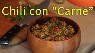 "Chili con ""Carne"": Raw Vegan Superfood Recipe"