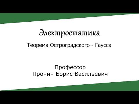 Электростатика. Теорема Остроградского - Гаусса