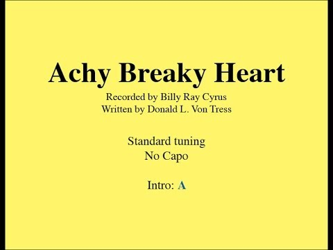 Achy Breaky Heart - Easy Guitar (chords and lyrics)