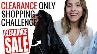 CLEARANCE ONLY SHOPPING CHALLENGE