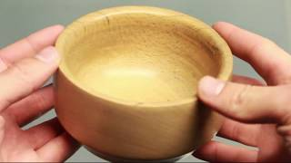 Turning a beech bowl housewarming gift